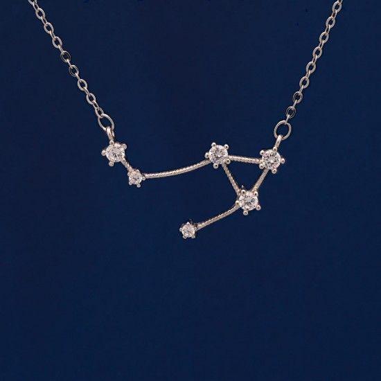 Collar de plata constelación libra