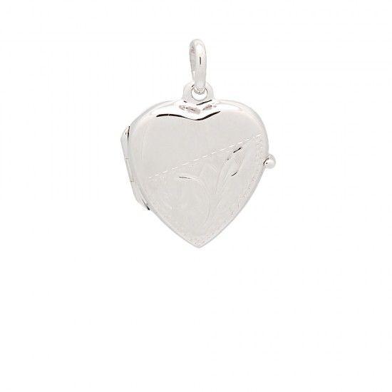 Colgante guardapelo de plata corazón...