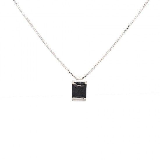 Colgante plata Anna color Negro