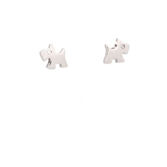 Pendientes de plata mini perrito